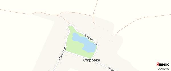 Северная улица на карте села Старовки с номерами домов
