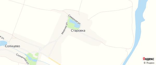 Карта села Старовки в Белгородской области с улицами и номерами домов