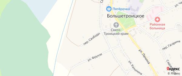 Переулок Свободы на карте Большетроицкого села с номерами домов