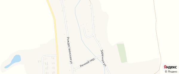 Речной переулок на карте села Вислой Дубравы с номерами домов