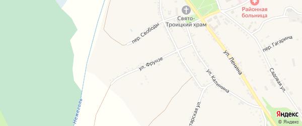 Улица Фрунзе на карте Большетроицкого села с номерами домов