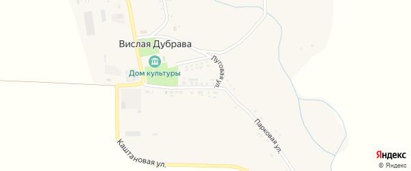 Привольная улица на карте села Вислой Дубравы с номерами домов