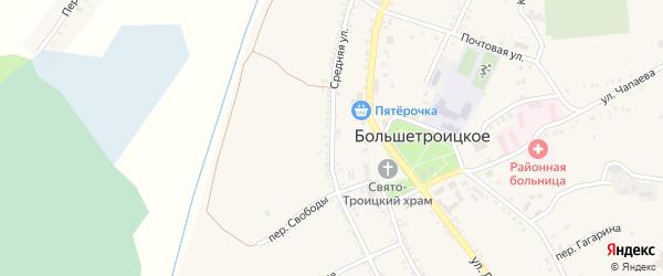 Средняя улица на карте Большетроицкого села с номерами домов
