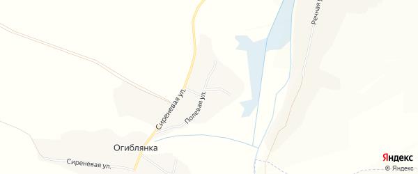 Карта села Огиблянки в Белгородской области с улицами и номерами домов