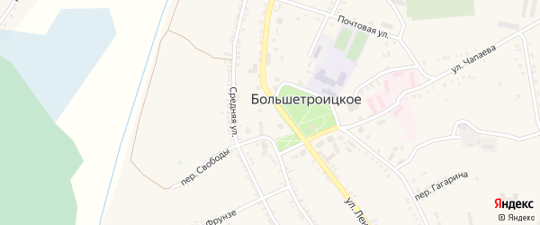 Троицкая площадь на карте Большетроицкого села с номерами домов