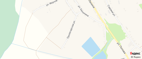 Пролетарская улица на карте Большетроицкого села с номерами домов