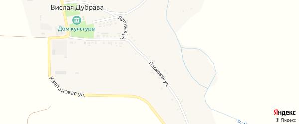 Парковая улица на карте села Вислой Дубравы с номерами домов