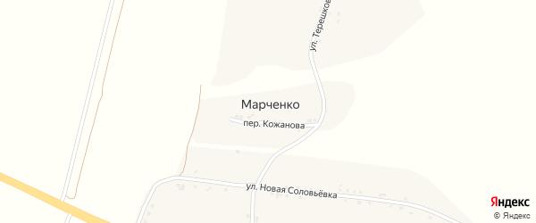 Улица Терешковой на карте хутора Марченко с номерами домов