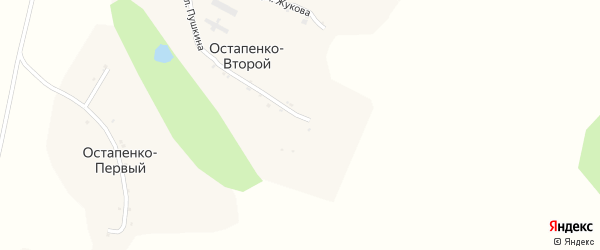 Улица Пушкина на карте Остапенко Второй хутора с номерами домов