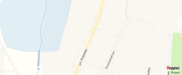Улица Кирова на карте Большетроицкого села с номерами домов
