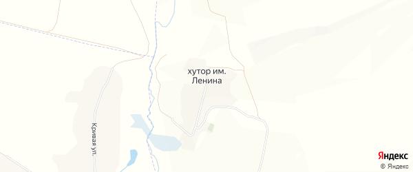 Карта хутора Имени Ленины в Белгородской области с улицами и номерами домов