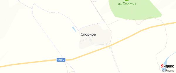 Карта хутора Спорного в Белгородской области с улицами и номерами домов