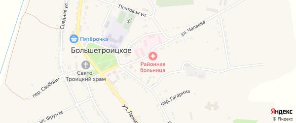 Колхозная улица на карте Большетроицкого села с номерами домов
