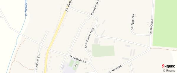 Колхозный переулок на карте Большетроицкого села с номерами домов