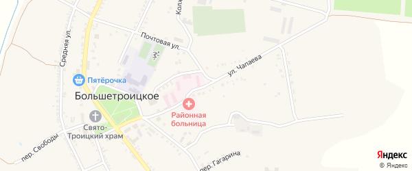 Улица Чапаева на карте Большетроицкого села с номерами домов