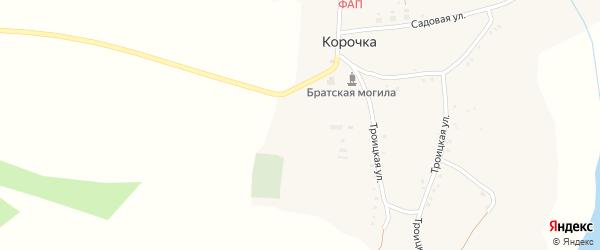 Троицкая улица на карте села Корочки с номерами домов