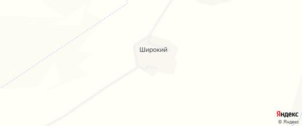 Карта Широкого хутора в Белгородской области с улицами и номерами домов
