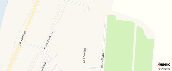 Улица Гринева на карте Большетроицкого села с номерами домов