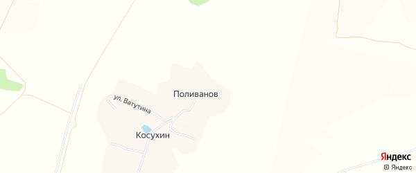 Карта хутора Поливанова в Белгородской области с улицами и номерами домов