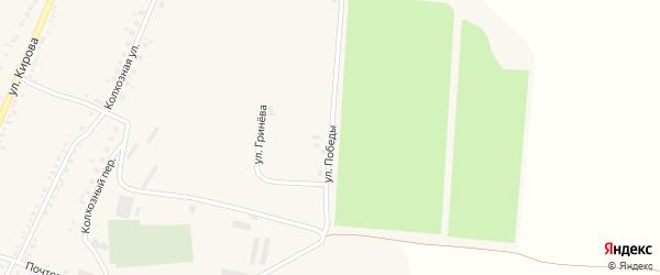 Улица Победы на карте Большетроицкого села с номерами домов