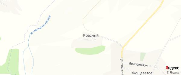 Карта Красного хутора в Белгородской области с улицами и номерами домов