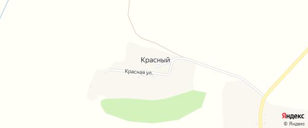 Красная улица на карте Красного хутора с номерами домов