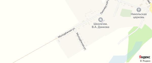 Молодежная улица на карте села Белого Колодезя с номерами домов