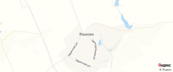Карта хутора Языково в Белгородской области с улицами и номерами домов