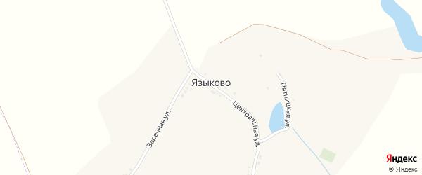 Центральная улица на карте хутора Языково с номерами домов