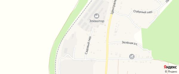 Садовый переулок на карте Долгого села с номерами домов