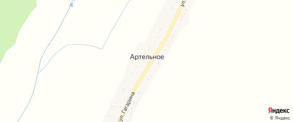 Улица Гагарина на карте Артельного села с номерами домов