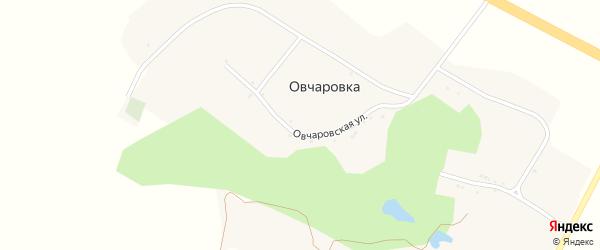 Овчаровская улица на карте хутора Овчаровки с номерами домов