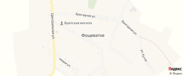 Бригадная улица на карте Фощеватого села с номерами домов