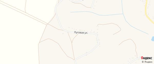 Луговая улица на карте Истобного села с номерами домов