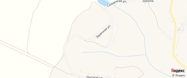 Заречная улица на карте Истобного села с номерами домов