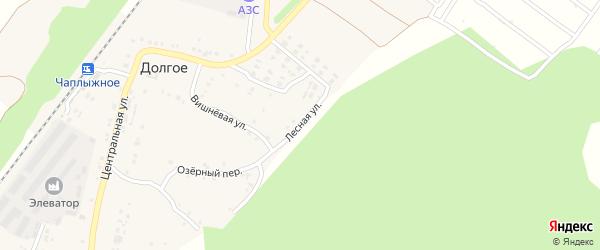 Лесная улица на карте Долгого села с номерами домов