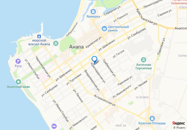 Карта анапы интим
