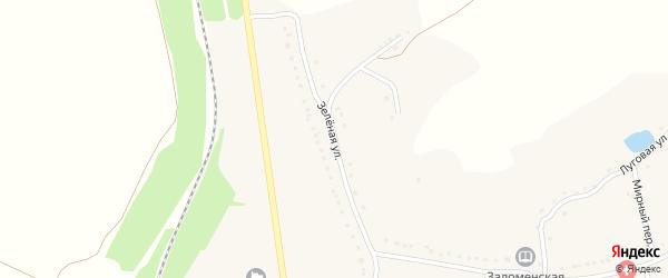 Зеленая улица на карте Заломного села с номерами домов