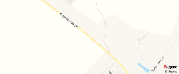 Фабричная улица на карте Истобного села с номерами домов