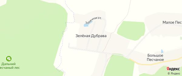 Карта хутора Зеленой Дубравы в Белгородской области с улицами и номерами домов