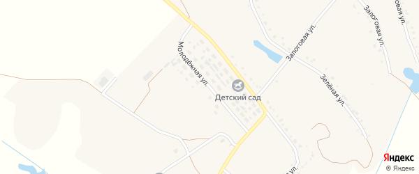Молодежная улица на карте Истобного села с номерами домов