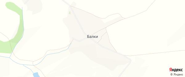 Карта хутора Балки в Белгородской области с улицами и номерами домов