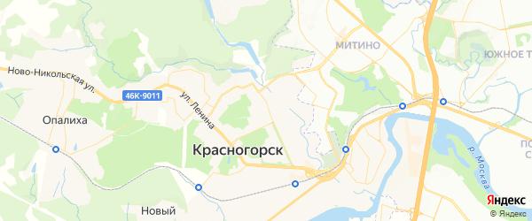 Карта Красногорска с районами, улицами и номерами домов
