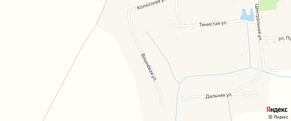 Вишневая улица на карте Богородицкого села с номерами домов