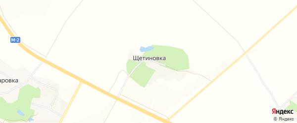 Карта хутора Щетиновки в Белгородской области с улицами и номерами домов