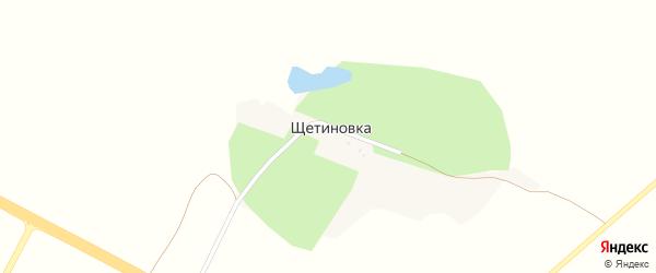 Щетиновская улица на карте хутора Щетиновки с номерами домов