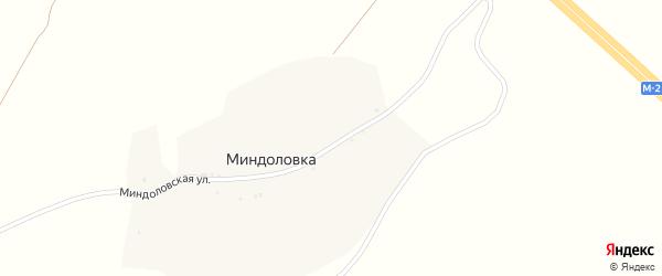 Миндоловская улица на карте хутора Миндоловки с номерами домов