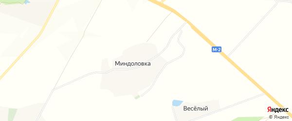 Карта хутора Миндоловки в Белгородской области с улицами и номерами домов