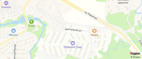 Жемчужная улица на карте садового некоммерческого товарищества Пищевика-1 с номерами домов