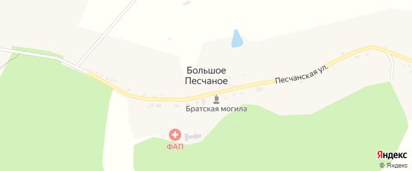 Песчаная улица на карте Большого Песчаного села с номерами домов